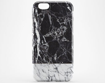 White & Black Marble iPhone 8 Case iPhone X Case iPhone 8 Plus iPhone 6 Case iPhone 7 iPhone 6 Plus Case iPhone 5 Galaxy S8 Case Phone Cover