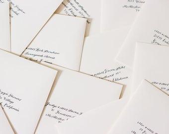 Calligraphy Wedding Envelopes | Envelope Calligraphy | Calligraphy wedding invitation