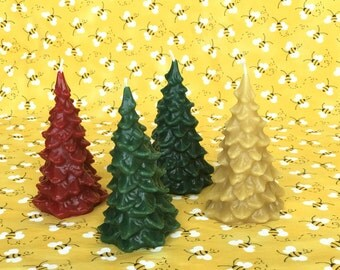 "100% Pure Beeswax 5"" Christmas Tree Candle"