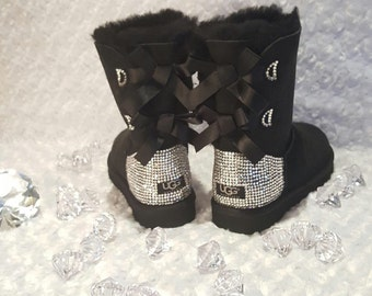 Bailey Bow Bling UGGS Rhinestone Ugg Boots Bling Ugg Boots