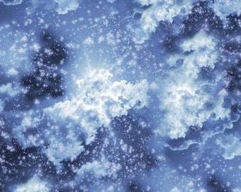 Heaven Sent Blue Starry Heavens from Benartex by the yard