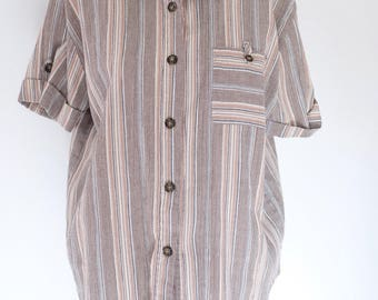 SALE* Vintage striped collared blouse