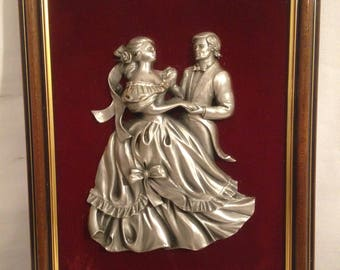 Table Figurine Statue BACHET Tin of the Couple dancing Prince