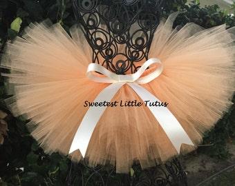 Peach Tutu/ Peaches and Cream Tutu/ Newborn Tutu/ Birthday Tutu/ Smash Cake Tutu/ Newborn Photo Prop