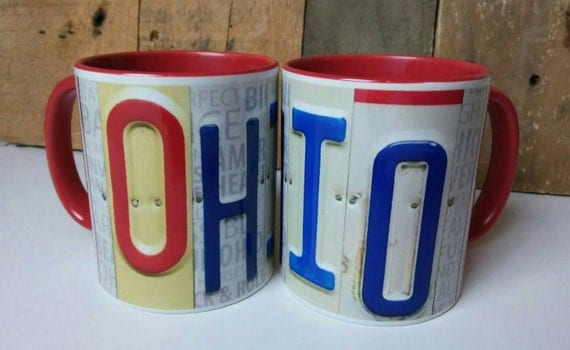 Ohio Mug - License Plate Art Image on Coffee Mug - Unique Mug - Ohio State Mug