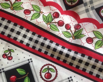 Cherry red curtain – Etsy