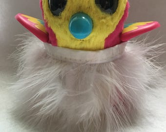 """White Fluffy Feather Skirt and Headband Set For Your Hatchimal Hatchimals Perfect for your Easter """"Egg"""""""