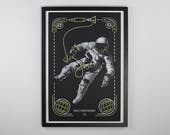 "Project Gemini Spacewalk - Space Exploration Poster - 12.5 x 19"" - Screen Printed"