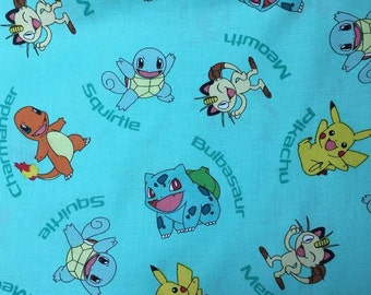 Pokemon Fabric By The Yard Etsy
