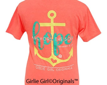 Girlie Girl Originals Hope Anchors Retro Heather Coral Short Sleeve T-Shirt