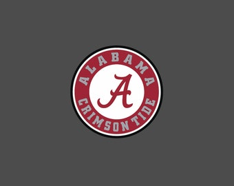 Alabama - Crimson Tide - Full Color - Die Cut Decal