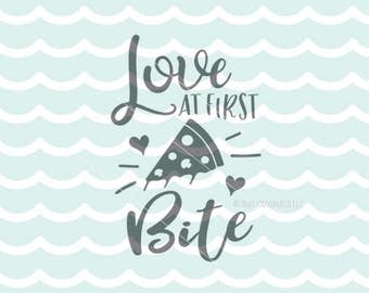 Pizza SVG Vector File. Cricut Explore & more. Love At First Bite Feed Me Pizza Bring Me Pizza Tell Me I'm Pretty Quote Pizza Lover SVG