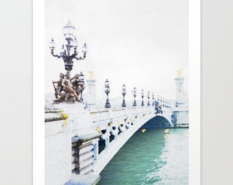 Paris Print Paris Bridge Watercolor Art Print Paris France watercolor painting Pont Alexandre III art print paris gifts for her french decor