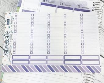 APR-58 || Full Box Checklist w/ Lines for Planner - April EC Color Scheme (10 Removable Matte Stickers)