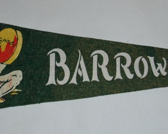 Genuine Vintage Felt Pennant Barrow Bay, Ontario 1950s — Free Shipping!