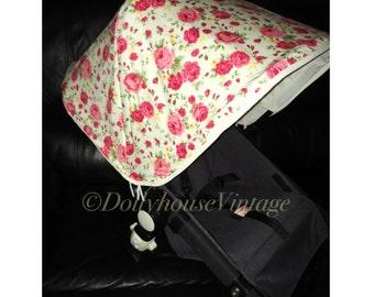 Custom made floral hood canopy for Bugaboo Cameleon 1 2 & 3
