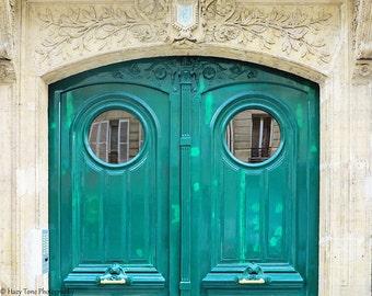Door Photography, Green Door Photo, Paris Photography Print, Bedroom Wall Art Print, Rustic Art, Paris Door Photograph, Picture, Green Decor