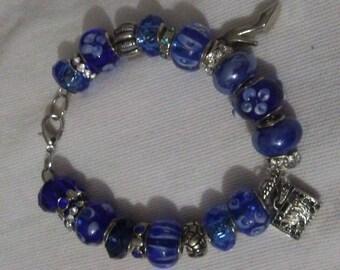 Royal Blue Bracelets with Charms