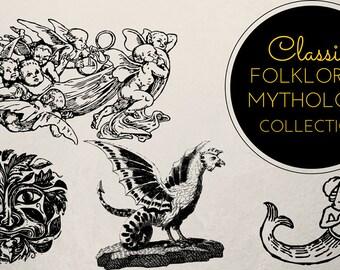 Folklore Mythology Superstition Legends Fairy Tales - 202 Rare Old Books