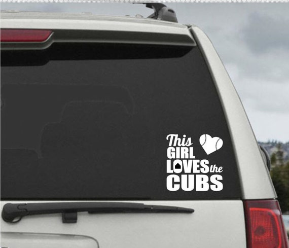 This Girl Loves The Cubs Decal Car Window Decal Chicago - Window stickers for cars chicago
