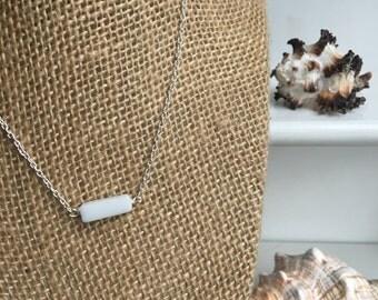 Cotton White Choker Necklace