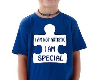 Autism Awareness T-shirt I am Special Tee T-shirt Autism Toddler T-shirt Youth T-shirt Blue Black