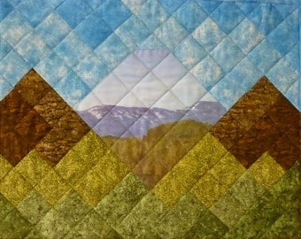Quilted Wall Hanging with Photo Transfer - East Mountains