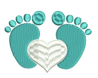 baby feet embroidery design etsy. Black Bedroom Furniture Sets. Home Design Ideas