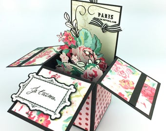 Je t'aime pop-up greeting card