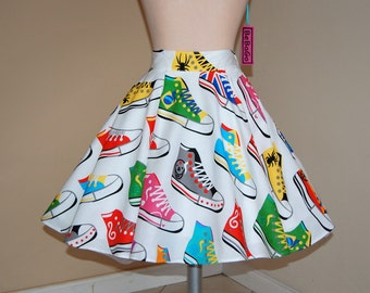 CLEARANCE SALE !!!High waist tee length  skirt,full circle skirt ,rockabilly skirt.