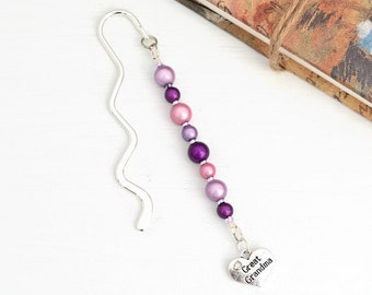 Great Grandma Beaded Bookmark, Great Grandma Gift, Great Grandma Birthday Gift, Great Grandma Mother's Day Gift, Great Grandmother Gift