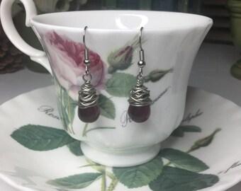 Purple Drops Earrings