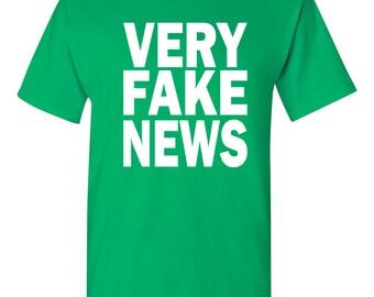 Very Fake News Donald Trump Jr Fake News Parody Men's Tee Shirt 1624