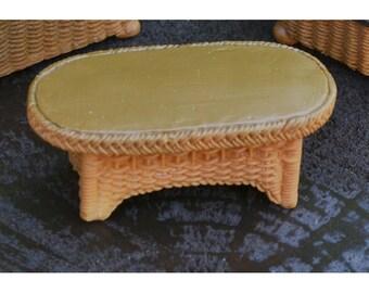 Fairy Garden  - Wicker Table - Miniature