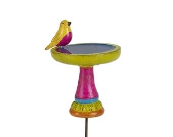 Fairy Garden  - Multicolor Birdbath - Miniature