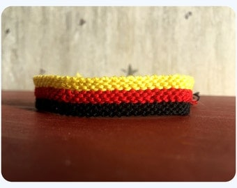 German Flag Friendship Bracelet