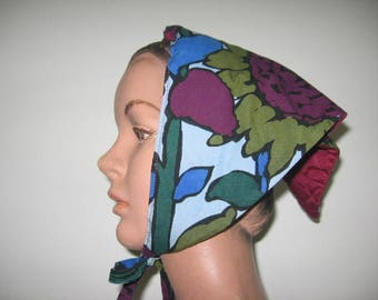 1960's Kerchief - Head Scarf, 3 Assorted Colors-Fabrics Available!