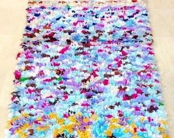 Wonderful boucherouite rug , rag