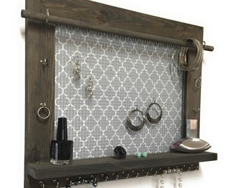 Jewelry Organizer - FREE SHIPPING - Wall Hanging Jewelry Display