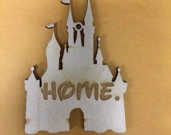 Disney castle ornament laser engraved laser cut