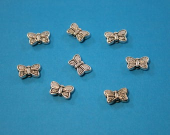 Pewter Butterfly Beads   8 Beads   10 x 7 mm