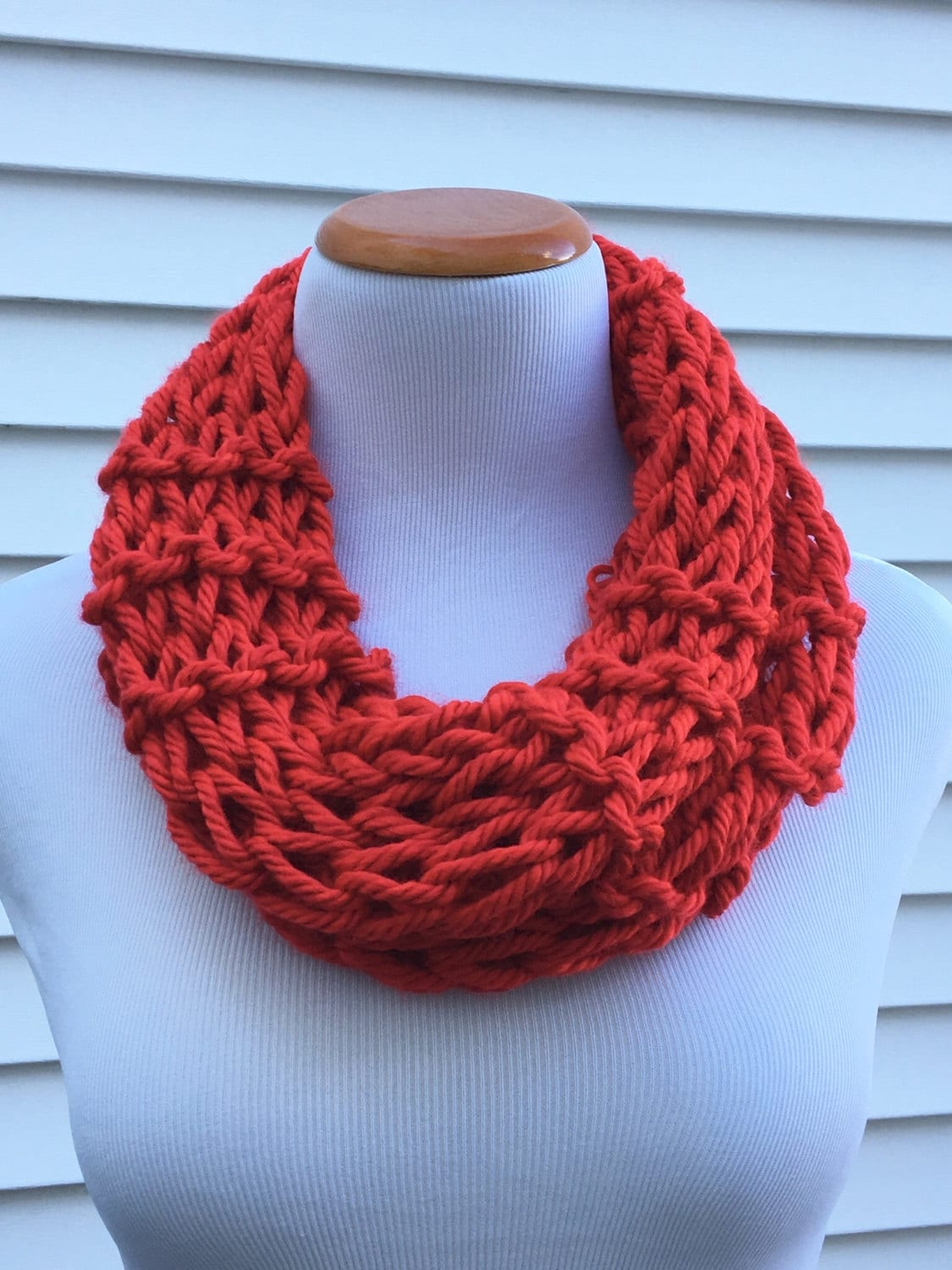 red scarf valentines day scarf valentine scarf christmas scarf holiday infinity knitted winter scarf