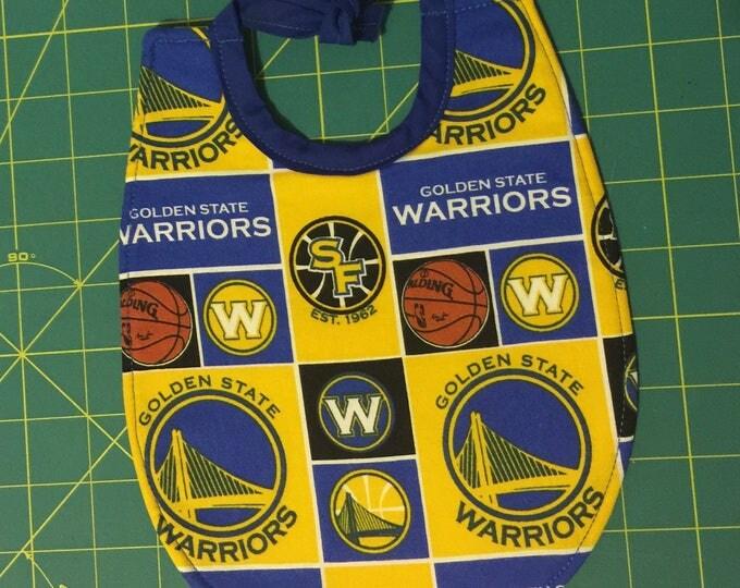Baby Bib Golden State Warriors Inspired Print Fabric