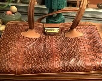 Vintage camel color leather bag