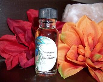 Lavender and Rose Essential Oil 1/2 oz Bottle