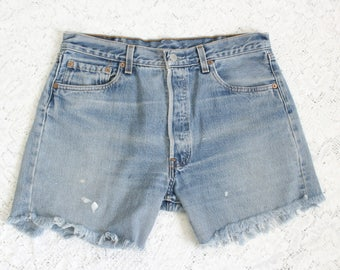 Levi high waisted denim shorts – Etsy