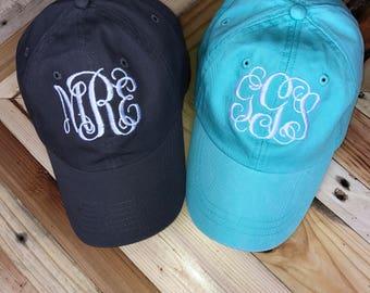 Monogrammed Baseball Cap // Personalized Baseball Cap // Monogrammed Hat // Baseball Hat // Bridesmaid Gift