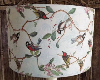Bird Lampshade  shabby chic  lamp shade, vintage, Nature finch, Free Gift