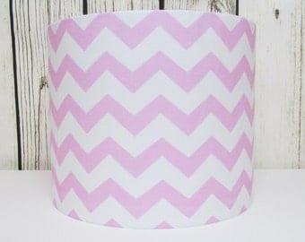 Pink Chevrons Lampshade Nursery Girls