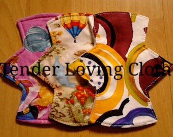 "SECONDS Bundle - set of 3 6"" reusable cloth pantyliners"